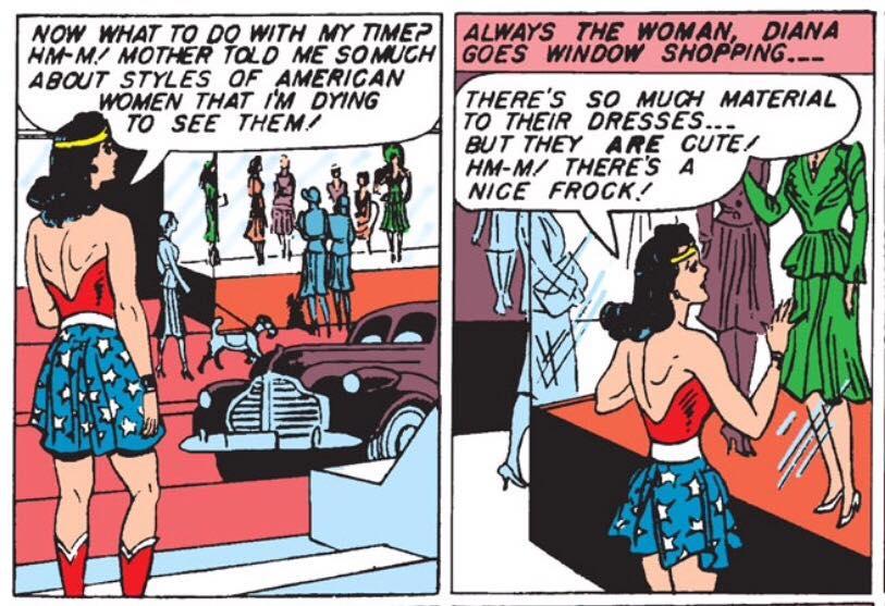 Wonder Woman Old Panel